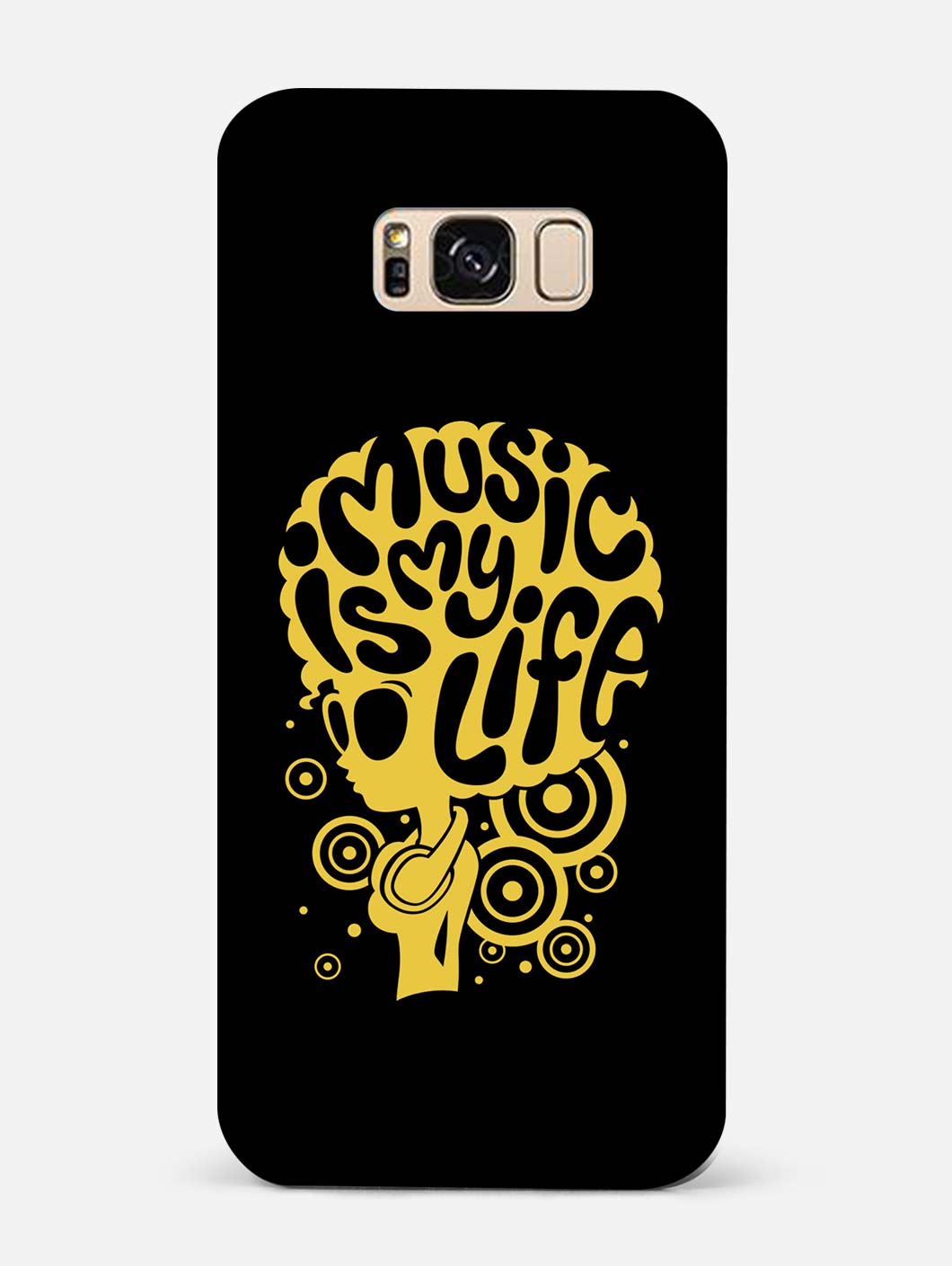 Music Is My Life Samsung S8 Plus Mobile Cover