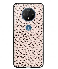 Nude Leopard Oneplus 7T Glass Case Cover
